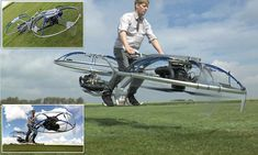 The future of transport? Watch a HOVERBIKE speed along in mid-air