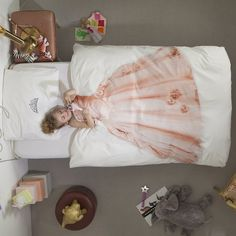Little girl bedding.  So awesome.