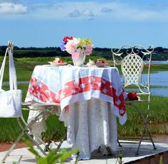 beach tablescape ~ Aiken house & Gardens