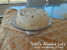 Cut the Wheat, Ditch the Sugar: White Almond Cake with Raspberry Filling