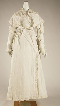 Robe  1815  Cotton  British -- Met Museum