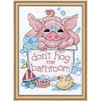 Dimensions® Bathtime Piglet Stamped Cross-Stitch Kit