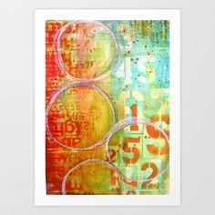 Tequilla Sunrise Art Print by Sophia Buddenhagen - $18.00