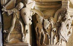 Romanesque carving http://en.wikipedia.org/wiki/Medieval_art