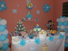 Mesa Baby shower azul