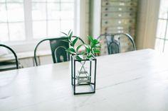 Metal Framed Vase