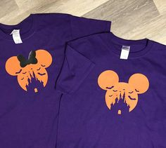 Minnie Mouse/Mickey Mouse/Disney Halloween/Halloween T-shirts