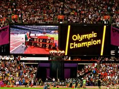 Summer Olympics - London 2012 - Men's 800m - Final: David Rudisha scored a Personal Best, set a new National Record, set a new Olympic Record, set a new World Record - all in one race! And, he's a World Record Holder and World Record ReHolder!