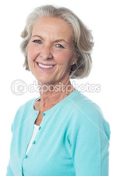 Descargar - Retrato de una mujer sonriente senior — Imagen de stock #39668519