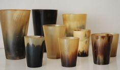 vintage horn cups