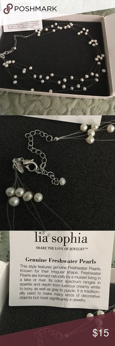 """Lia Sophia Freshwater pearls 16.-18"""" multiple freshwater pearl strands necklace by Lia Sophia. In original box. Excellent condition. Lia Sophia Jewelry Necklaces"""