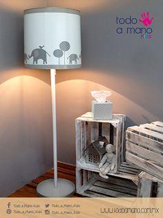 Lámpara en gris y blanco #hechaenmexico