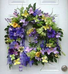 Spring/Summer Purple Willow Wreath with by HungUpOnWreaths on Etsy, $109.00