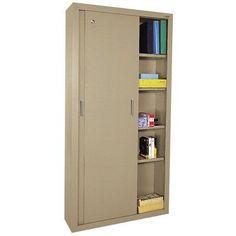 Sandusky Sliding 2 Door Storage Cabinet Color: Tropic Sand