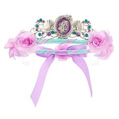 Disney Ariel Tiara for Girls   Disney StoreAriel Tiara for Girls - A wave of dazzling jewels swirl about this Ariel Tiara that will inspire dreams of aquatic adventures. Silver metal shells nestle either side of the glittering Little Mermaid cameo on this crowning accessory to her Ariel costume.