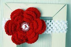 Alabama crochet headband