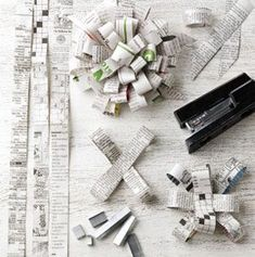 how to make newspaper bows