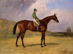 Prince Plausible, with G. Fordham Up by Harry Hall - 22 x 30 inches Signed and dated 1864 british victorian sporting racing horses racecourse race course jockey