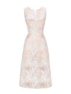 Rose Gold Jacquard Prom Dress