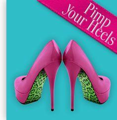 Liquid Heels Pimp your heels - panter groen design.    Verkrijgbaar op Www.LiquidHeels.nl
