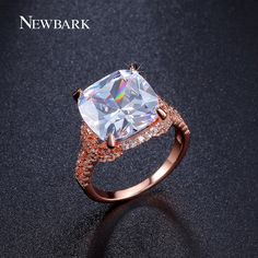 Find More Rings Information about NEWBARK Luxury 18K White / Rose Gold Plated…