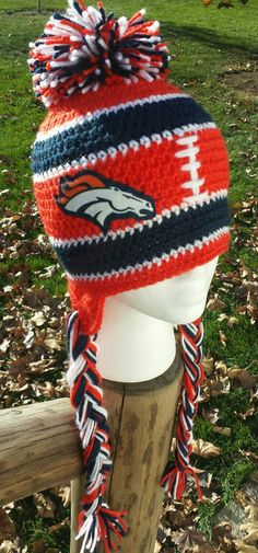Denver Broncos Beanie Denver Broncos Hat by AtTheLilyPond on Etsy