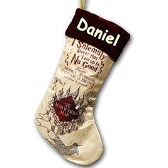 Kurt Adler Personalized Harry Potter Magical Marauders Map Christmas Stocking 18 Inches * Learn more by visiting the image link-affiliate link. Christmas Stockings With Names, Xmas Stockings, Harry Potter Christmas Ornaments, Harry Potter Marauders Map, Harry Potter Bedroom, Dou Dou, Name Embroidery, Gifts For Bookworms, Harry Potter Gifts