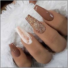 39 trendy fall nails art designs ideas to look autumnal and charming - autumn nail art ideas fall nail art fall art designs autumn nail colors autumn nail ideas almond nail art ideas coffin nail art designs dark nail designs coffin nails Cute Acrylic Nail Designs, Fall Nail Art Designs, Brown Nail Designs, Nail Designs For Winter, Gel Nail Polish Designs, Best Nail Designs, Nail Ideas For Winter, Pointed Nail Designs, Sparkle Nail Designs