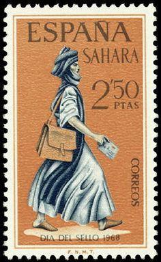 Stamp: Day of the stamp (Spanish colonies) (Spanish Sahara)
