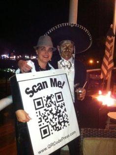 QR Code Press halloween costume - An interactive costume is a great idea!