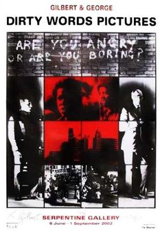 gilbert and george are you angry or are you boring poster