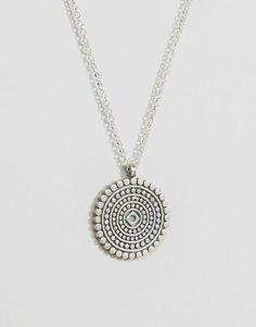 Imagen 2 de Collar recordatorio de plata de ley con diseño de mandala Moindful…