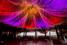 Spend the night dancing under the twinkle lights! #DreamsRivieraCancun #Mexico #Destinationwedding