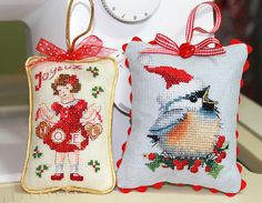 Pics of Finishing of Joyeux Noel and Christmas Chickadee @ Sew Much 2 Luv