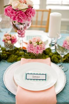 Pretty place setting. Love the name place card