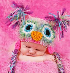 The hat I just ordered for J.  His will be greens and blues....NOT pink:)