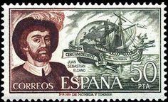 Sello: Juan Sebastián Elcano (España) (Personas famosas) Mi:ES 2203,Sn:ES 1935,Yt:ES 1956,AFA:ES 2302,Edi:ES 2310