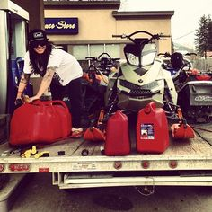 4bd50a7fab4 Danger P loading up the tanks before heading out for another  sledadventure  Snowboarding Women
