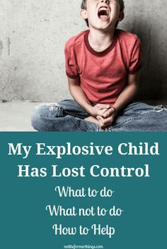 My Explosive Child Has Lost Control - What Do I do? - Not The Former Things