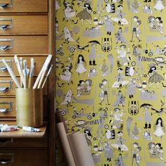 Vara Visor by Sandberg - Chartreuse - Wallpaper : Wallpaper Direct