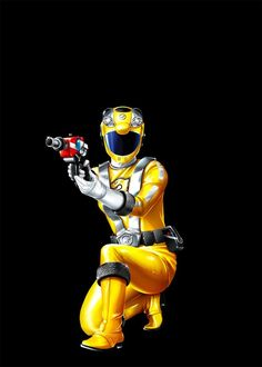 Power Rangers RPM yellow ranger. Hmm Aisha was a bear and Summer is a bear. Works for me.