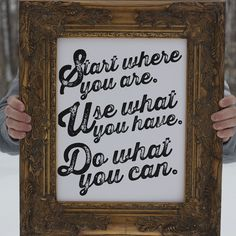 Start where you are..Use what you have..Do what you can! #ESPEROS #CarryHope #GiveBack