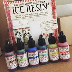 Ice resin tints. Is it possible to only have one?  Which color is your favorite?  #resin #resinobsession #iceresin #resinjewelry #resinjewelrymaking #resincrafts #resincrafting #resina #resine...