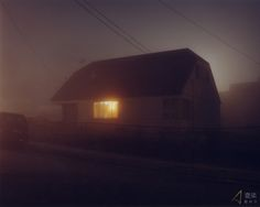 Todd Hido, 1968, is an American photographer. He is well known for his night photography of houses. Although they have a spooky and lonely feel to them, there is a sense of looking into the lifes of someone. The photographs have a link with Gregory Crewdson's photography, but then without the props, actors and insanely expensive lighting.
