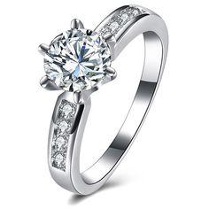 OZSALE - Swarovski Crystal 18K Gold Layering Ring