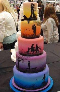 diferente bolo de casamento
