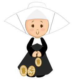 Nun Catholic, Catholic Saints, Baptism Cookies, Daughters Of Charity, First Communion, New Orleans, Disney Characters, Fictional Characters, Minnie Mouse