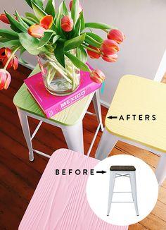 - DIY - Scandinavian-inspired color stools