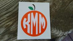 Orange Citrus Circle Monogram Vinyl Decal, Laptop Decal, Yeti Decal, Car Decal by MakeItMineMarket on Etsy https://www.etsy.com/listing/242173149/orange-citrus-circle-monogram-vinyl
