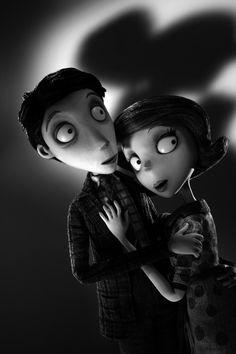 Mr. Frankenstein and Mrs. Frankenstien from Walt Disney Pictures' 'Frankenweenie', 2012, directed by Tim Burton.
